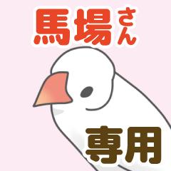 【馬場専用】文鳥さんスタンプ