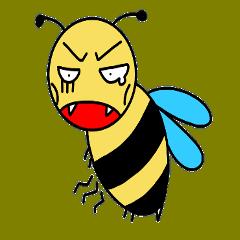 [LINEスタンプ] 今日も働く社畜バチ