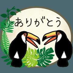 [LINEスタンプ] オニオオハシとボタニカルガーデン
