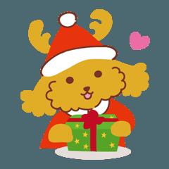 トイプードルのモフプー_クリスマス&お正月