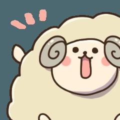 [LINEスタンプ] ゆるゆる羊もどき (1)