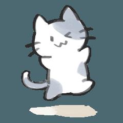 [LINEスタンプ] おだやかにゃんこ