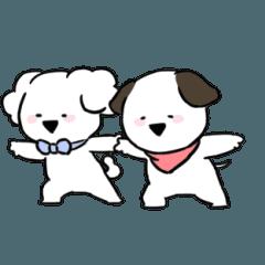 [LINEスタンプ] すこぶる動くちびイヌ