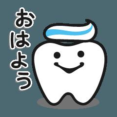 ハーイ、歯だよ。