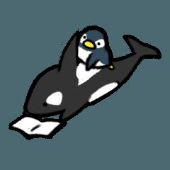 おっとりシャチと気まぐれペンギン