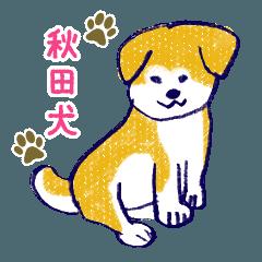 [LINEスタンプ] 手書きの秋田いっぬ☆ゆるゆる (1)