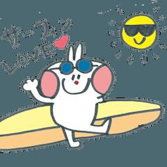 サーフィン大好き!デカ文字ウサギ