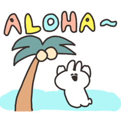 ハワイかぶれのうさちゃん