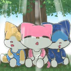 [LINEスタンプ] 宝石猫の三匹