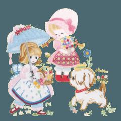 優しさ伝えるフランス刺繍&和風スタンプ