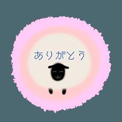 [LINEスタンプ] 羊のシンプルスタンプ