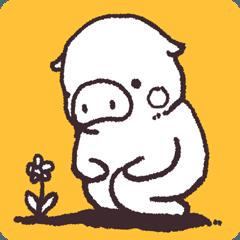 [LINEスタンプ] ゆるいブタの日常