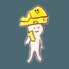 チーズの妖精スタンプ