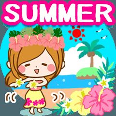 常夏♪♥大人女子のやさしい毎日スタンプ♥