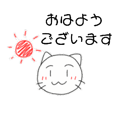 シール調の猫さん