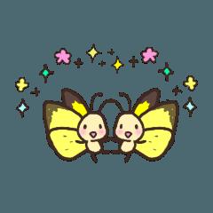 可愛い昆虫のスタンプ