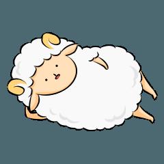 [LINEスタンプ] だらだら羊 適当な返事編