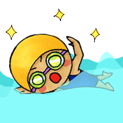 [LINEスタンプ] 水泳女子 (1)
