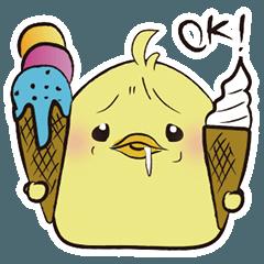 眉間にシワ鳥 夏のOK祭り
