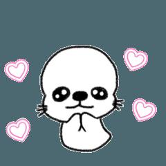 [LINEスタンプ] おもちあざらしちゃん