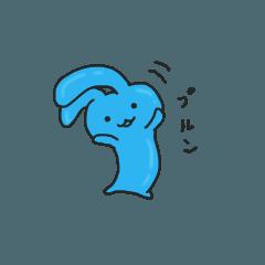 [LINEスタンプ] うさぎ ぷるぷる