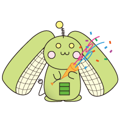 [LINEスタンプ] サイレントメカウサギ