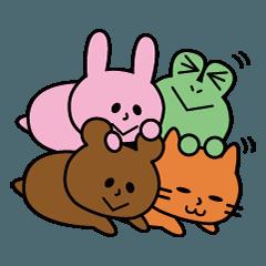[LINEスタンプ] うさぎんと愉快な仲間達4