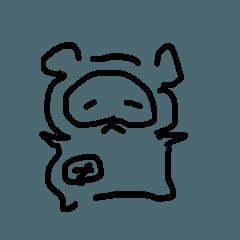 [LINEスタンプ] デブなたぬき