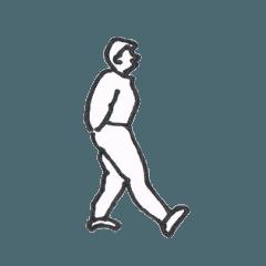 [LINEスタンプ] 色々なポーズをとる人のスタンプ