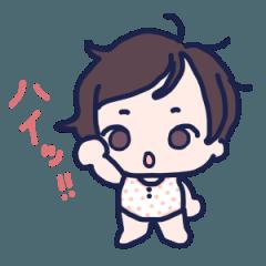 [LINEスタンプ] 女の子の赤ちゃんスタンプ①