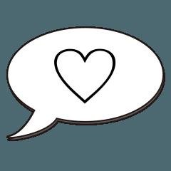 [LINEスタンプ] 一文字で伝える時 5
