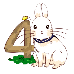 [LINEスタンプ] Lovely rabbit sticker!4