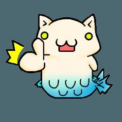 [LINEスタンプ] にゃん魚