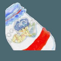 [LINEスタンプ] ビンの妖精さん