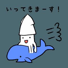 [LINEスタンプ] 白いいか