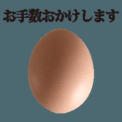 [LINEスタンプ] 茶色たまご と 敬語