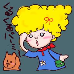 [LINEスタンプ] くるくるパーミーの健気な言葉